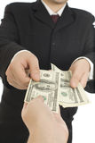 ανθρώπινα χρήματα χεριών Στοκ Φωτογραφία