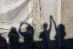 ανθρώπινες σκιές Στοκ Φωτογραφίες