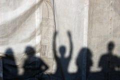 ανθρώπινες σκιές Στοκ φωτογραφία με δικαίωμα ελεύθερης χρήσης