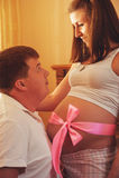 Ανθρώπινη έννοια εγκυμοσύνης και προσδοκίας Στοκ εικόνα με δικαίωμα ελεύθερης χρήσης