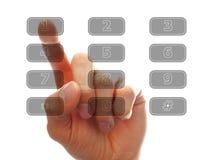 ανθρώπινη βασική πίεση δάχτυλων Στοκ Φωτογραφία