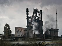 ανθρώπινη βιομηχανική καπνοδόχος οικολογίας συμπεριφοράς Στοκ Φωτογραφίες