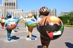 Ανθρώπινη ενέργεια φεστιβάλ 2016 τέχνης Astana για EXPO 2017 σε Astana Στοκ Φωτογραφίες