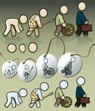 Ανθρώπινη εξέλιξη Στοκ Φωτογραφία