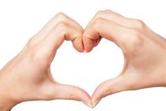 Ανθρώπινη καρδιά χεριών Στοκ εικόνα με δικαίωμα ελεύθερης χρήσης