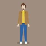 Ανθρώπινη σκιαγραφία διανυσματική απεικόνιση