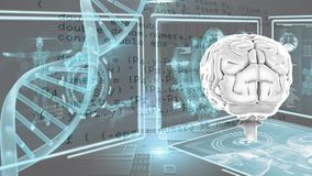Ανθρώπινοι εγκέφαλος και DNA απεικόνιση αποθεμάτων