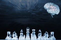 Ανθρώπινοι εγκέφαλος και επικοινωνία, AI Στοκ φωτογραφίες με δικαίωμα ελεύθερης χρήσης