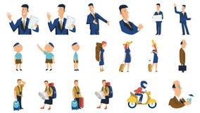Ανθρώπινοι χαρακτήρες Επιχειρησιακή έννοια τέλεια για τη ζωτικότητα ή τα κινούμενα σχέδια διανυσματικό illustrati επιχειρησιακών  Στοκ φωτογραφίες με δικαίωμα ελεύθερης χρήσης