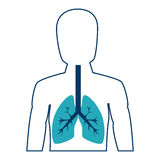 Ανθρώπινος αριθμός με τους πνεύμονες απεικόνιση αποθεμάτων