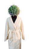 Ανθρώπινος αριθμός με το κεφάλι λουλουδιών Στοκ Εικόνες