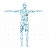 ανθρώπινος Μόριο δομών του ατόμου Ιατρική, επιστήμη και τεχνολογία Επιστημονικό διάνυσμα για το σχέδιό σας Στοκ φωτογραφίες με δικαίωμα ελεύθερης χρήσης
