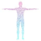 ανθρώπινος Μόριο δομών του ατόμου Ιατρική, επιστήμη και τεχνολογία Επιστημονικό διάνυσμα για το σχέδιό σας Στοκ εικόνα με δικαίωμα ελεύθερης χρήσης