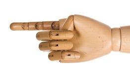 ανθρώπινος ξύλινος χεριών Στοκ φωτογραφία με δικαίωμα ελεύθερης χρήσης