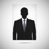 Ανθρώπινος στόχος σκιαγραφιών annonymous πρόσωπο Στοκ Φωτογραφία