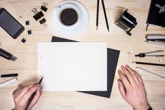 Ανθρώπινος σχεδιασμός χεριών Στοκ Εικόνες