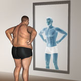 Ανθρώπινο λίπος ατόμων και λεπτή έννοια απεικόνιση αποθεμάτων
