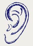 Ανθρώπινο αυτί διανυσματική απεικόνιση