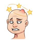 Ανθρώπινο κεφάλι με μια πρόσκρουση απεικόνιση αποθεμάτων