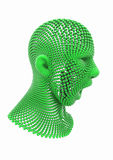 Ανθρώπινο κεφάλι φιαγμένο από σφαίρες Απεικόνιση αποθεμάτων