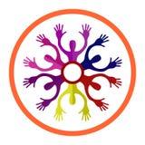 ανθρώπινο λογότυπο Ζεύγος, φίλοι διανυσματική απεικόνιση