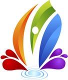 Ανθρώπινο λογότυπο παφλασμών ελεύθερη απεικόνιση δικαιώματος