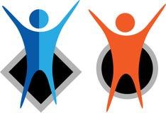 Ανθρώπινο λογότυπο Στοκ εικόνα με δικαίωμα ελεύθερης χρήσης