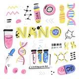 Ανθρώπινο πρόγραμμα γονιδιώματος διανυσματική απεικόνιση