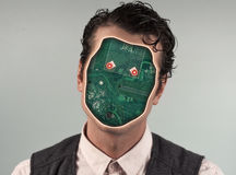 Ανθρώπινο ρομπότ Cyborg Στοκ φωτογραφίες με δικαίωμα ελεύθερης χρήσης