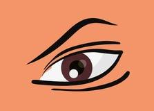 Ανθρώπινο σχέδιο ματιών διανυσματική απεικόνιση