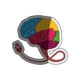 Ανθρώπινο σύμβολο εγκεφάλου διανυσματική απεικόνιση
