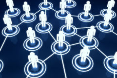 Ανθρώπινο τρισδιάστατο πρότυπο ελαφρύ δίκτυο οργάνωσης συνδέσεων σύνδεσης Στοκ εικόνα με δικαίωμα ελεύθερης χρήσης