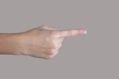 Ανθρώπινο χέρι με την υπόδειξη του δάχτυλου Στοκ φωτογραφίες με δικαίωμα ελεύθερης χρήσης