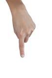 Ανθρώπινο χέρι με την υπόδειξη του δάχτυλου Στοκ Εικόνα