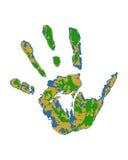 Ανθρώπινο χέρι στο άσπρο διάνυσμα υποβάθρου Στοκ φωτογραφία με δικαίωμα ελεύθερης χρήσης