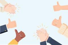 Ανθρώπινο χτύπημα χεριών Επιδοκιμάστε τα χέρια r Πολλά χέρια που χτυπούν την επευφημία και τα πλήγματα επάνω ελεύθερη απεικόνιση δικαιώματος