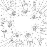 Ανθρώπινο χτύπημα χεριών ευτυχές συμβαλλόμενο μέ& ελεύθερη απεικόνιση δικαιώματος