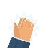 Ανθρώπινο χτύπημα χεριών διανυσματική απεικόνιση