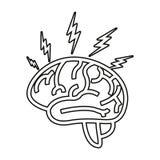 Ανθρώπινο όργανο εγκεφάλου απεικόνιση αποθεμάτων