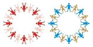 ανθρώπινο ύφος λογότυπων αλυσίδων Στοκ φωτογραφία με δικαίωμα ελεύθερης χρήσης