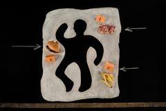 Ανθυγειινός κίνδυνος τροφίμων δέο στοκ εικόνες με δικαίωμα ελεύθερης χρήσης