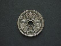 2 δανικά κορώνα & x28 DKK& x29  νόμισμα Στοκ Φωτογραφίες