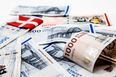 100 400 δανικές σημειώσεις DOB νομίσματος λογαριασμών Στοκ φωτογραφία με δικαίωμα ελεύθερης χρήσης