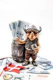100 400 δανικές σημειώσεις DOB νομίσματος λογαριασμών Στοκ Εικόνες