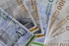 100 400 δανικές σημειώσεις DOB νομίσματος λογαριασμών Στοκ Εικόνα