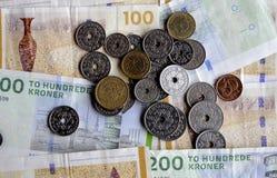 100 400 δανικές σημειώσεις DOB νομίσματος λογαριασμών Στοκ φωτογραφίες με δικαίωμα ελεύθερης χρήσης
