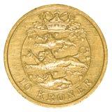 δανικό νόμισμα κορωνών 10 Στοκ φωτογραφία με δικαίωμα ελεύθερης χρήσης