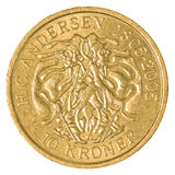 δανικό νόμισμα κορωνών 10 Στοκ φωτογραφίες με δικαίωμα ελεύθερης χρήσης