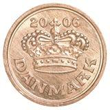 δανικό νόμισμα μεταλλεύματος 50 Στοκ Φωτογραφία