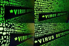 ανιχνευμένος ιός σημαδιών & Στοκ Εικόνες